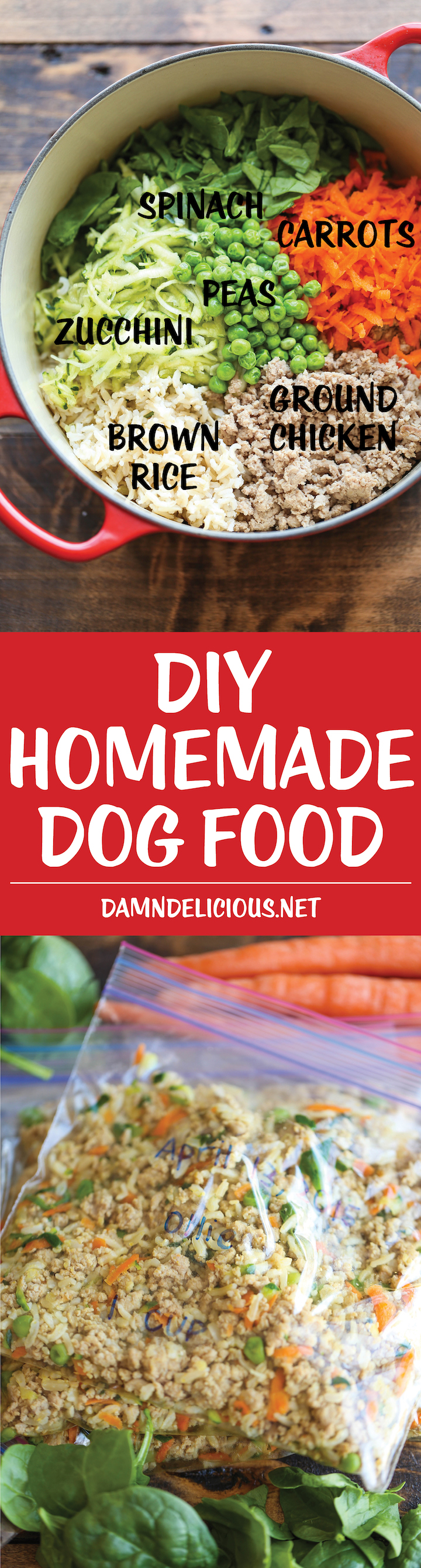 DIY Homemade Dog Food - Keep your dog healthy and fit with this easy peasy homemade
