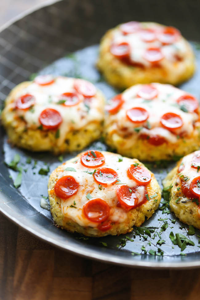 Mini Cauliflower Pizzas Damn Delicious