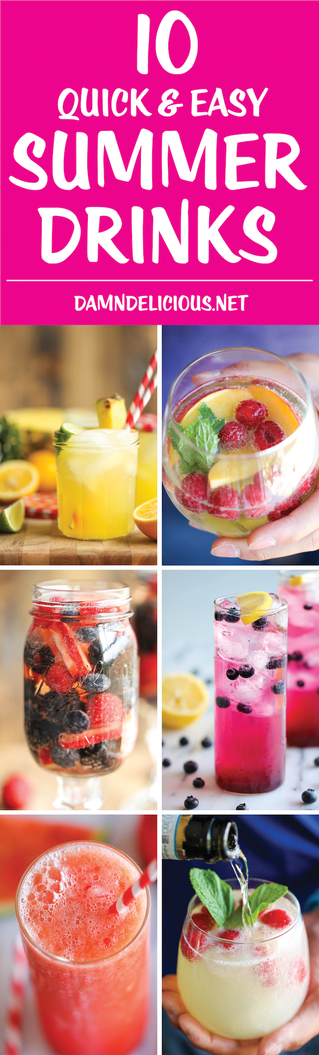10 Quick and Easy Summer Drinks