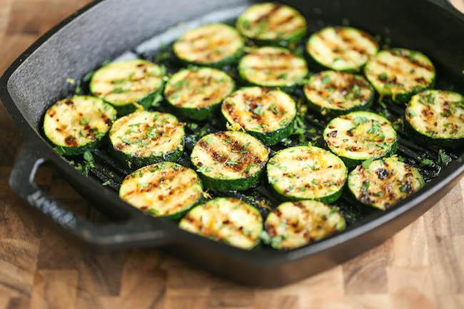 Grilled Lemon Garlic Zucchini Damn Delicious