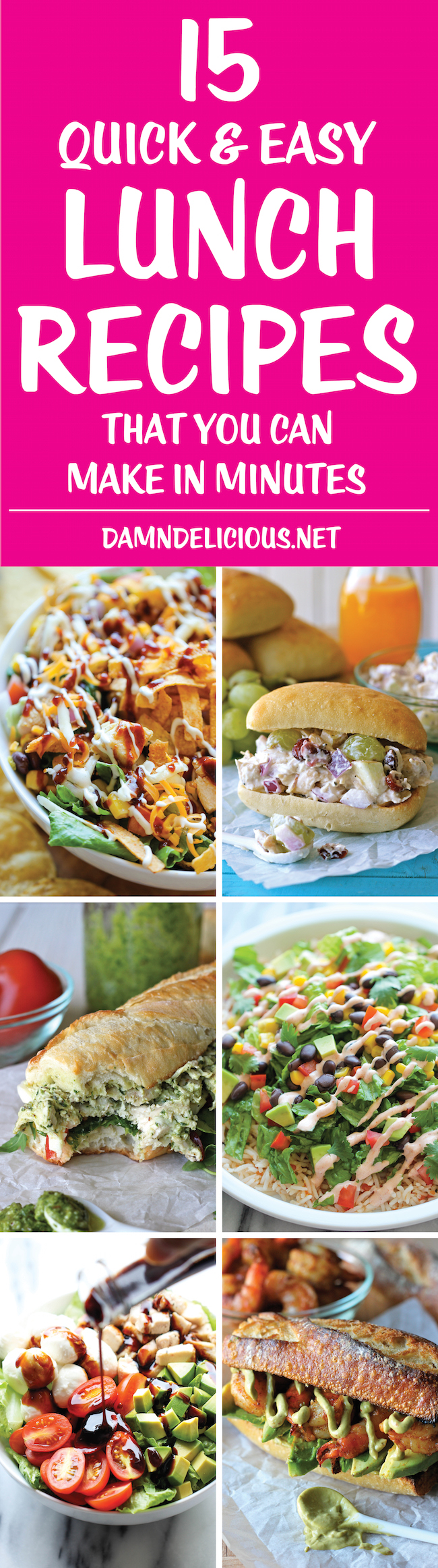 15 quick and easy lunch recipes - damn delicious