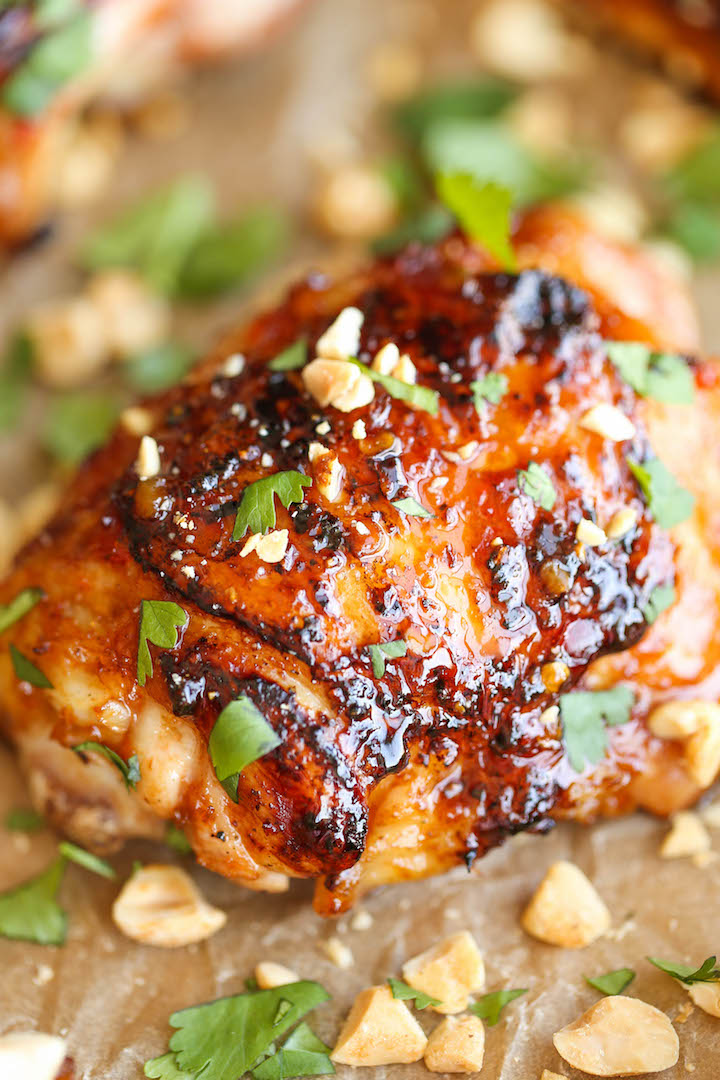 Easy thai chicken damn delicious easy thai chicken so sticky so tender so moist and just packed with forumfinder Images