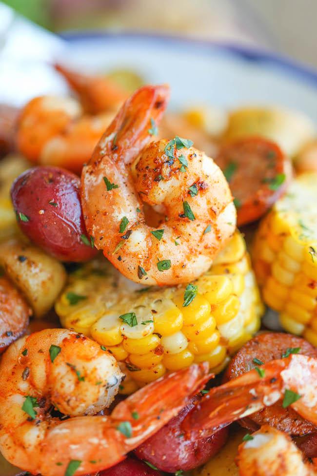 Shrimp Boil Foil Packets Damn Delicious