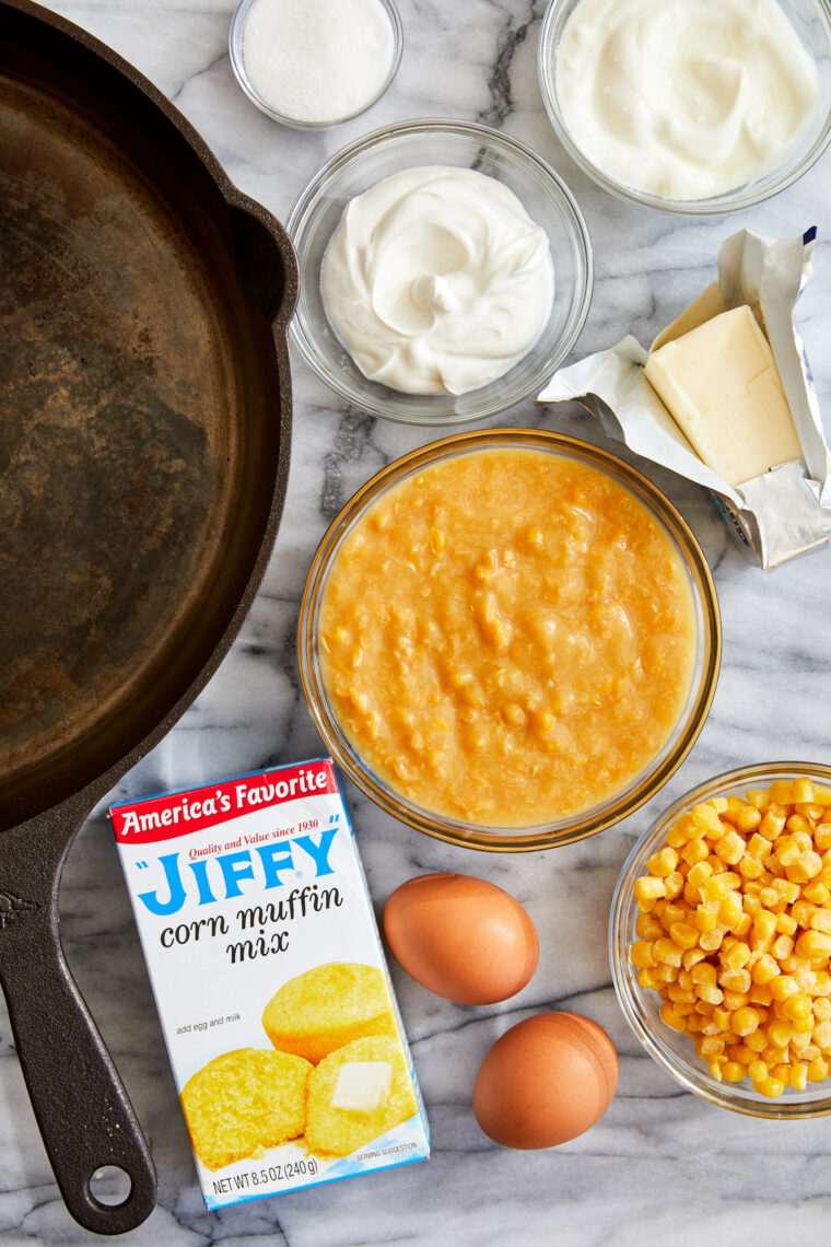 Sweet Corn Spoonbread - This is basically cornbread on crack with the most amazing creamy, buttery center that just melts in your mouth. It's to die for!