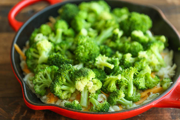 Broccoli and Potato Casserole - So hearty, comforting and cheesy! Makes for a perfect easy side dish or even a quick weeknight entree with added chicken!