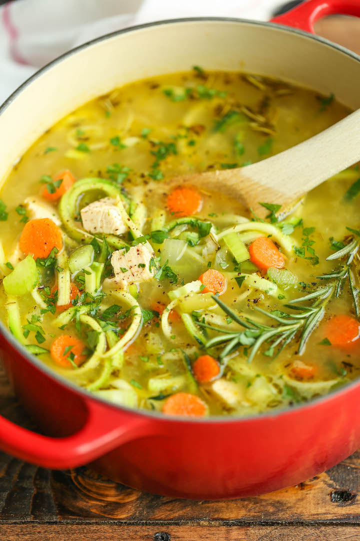 10 weeknight chicken breast recipes damn delicious chicken zoodle soup just like moms cozy chicken noodle soup but made with zucchini noodles forumfinder