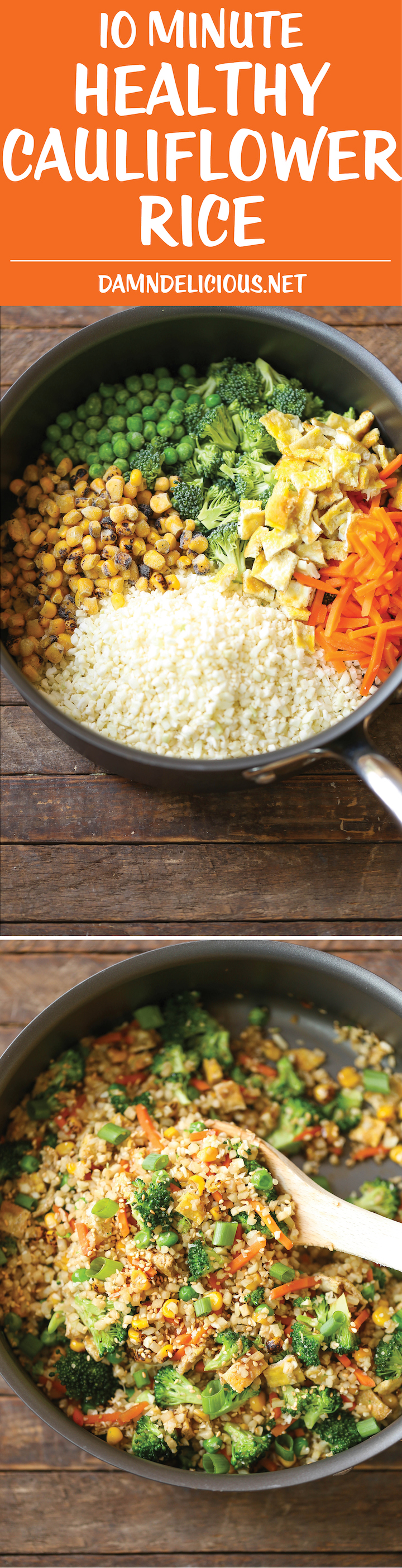 10 minute healthy cauliflower rice damn delicious 10 minute healthy cauliflower rice an amazingly healthy twist on takeout fried rice but you forumfinder Choice Image