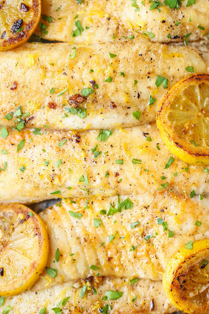 Baked Lemon Butter Tilapia Damn Delicious