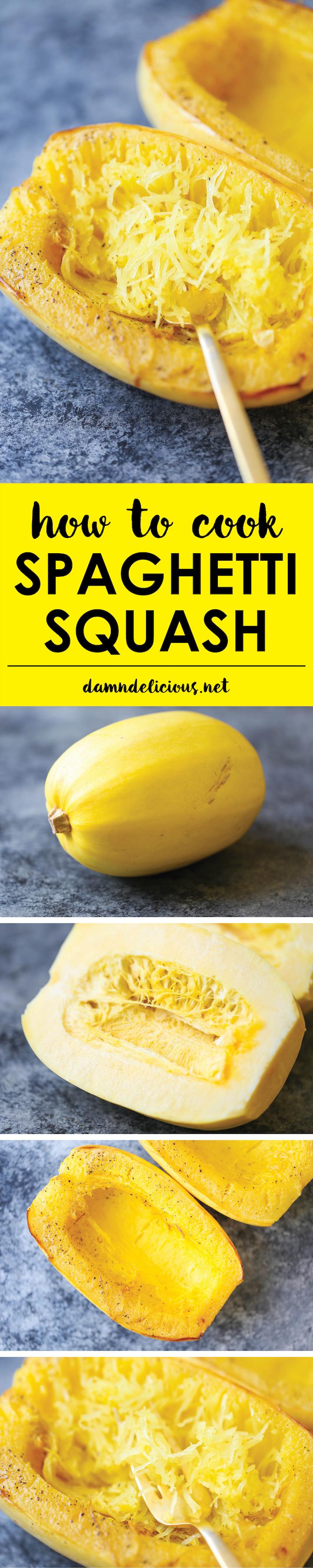 How To Cook Spaghetti Squash Damn Delicious