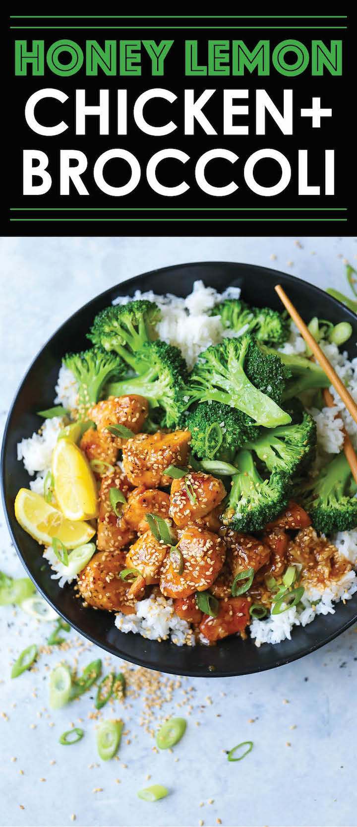 Honey lemon chicken and broccoli bowls damn delicious honey lemon chicken and broccoli bowls forumfinder Choice Image