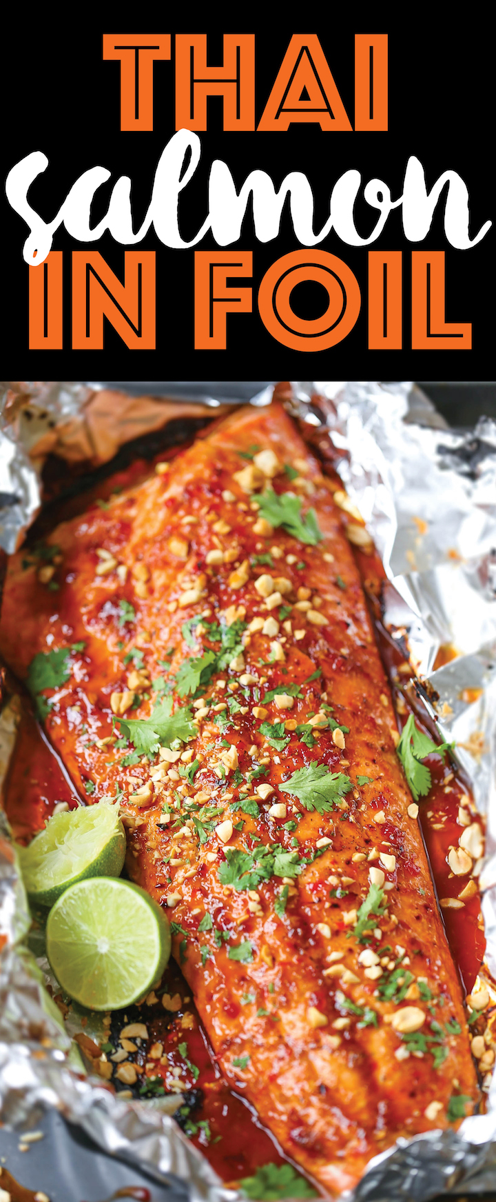 Thai salmon in foil damn delicious thai salmon in foil the flavors are sealed right into a foil packet with no forumfinder Choice Image