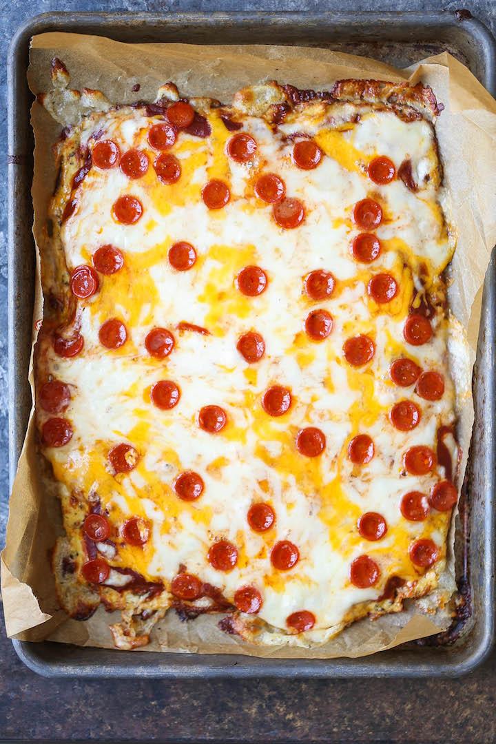 The Best Cauliflower Pizza Crust Damn Delicious