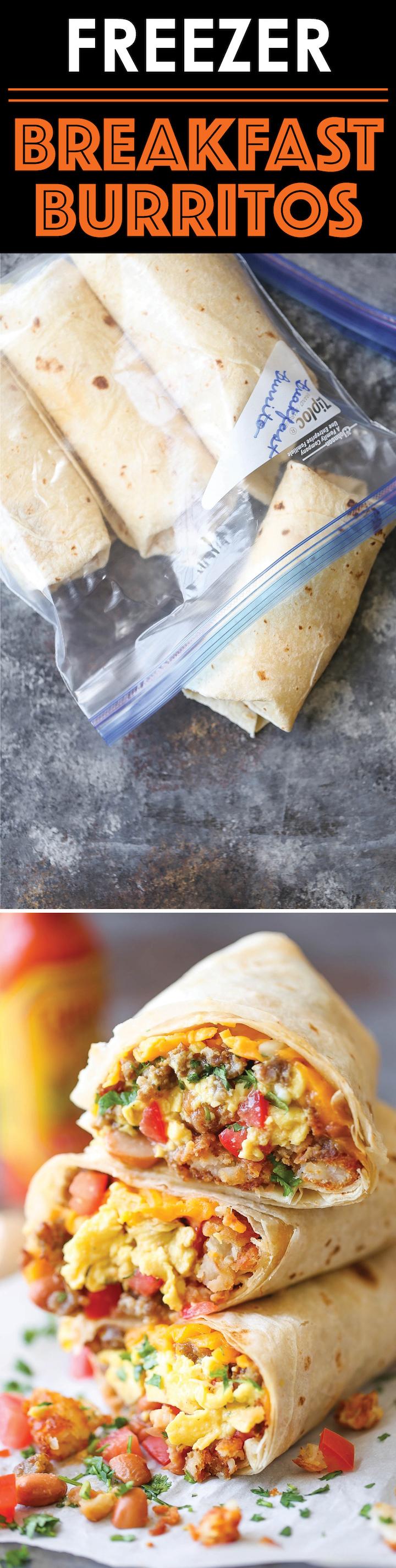 Freezer Breakfast Burritos