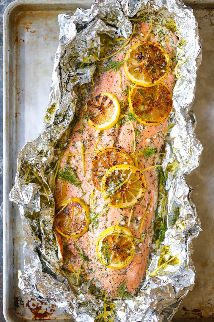 Lemon Dill Salmon In Foil Damn Delicious