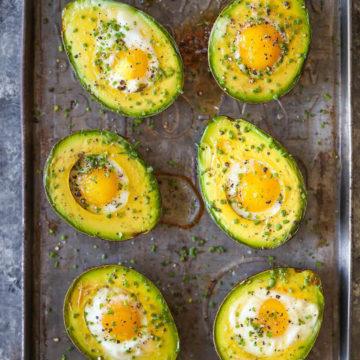 Baked Eggs In Avocado Damn Delicious