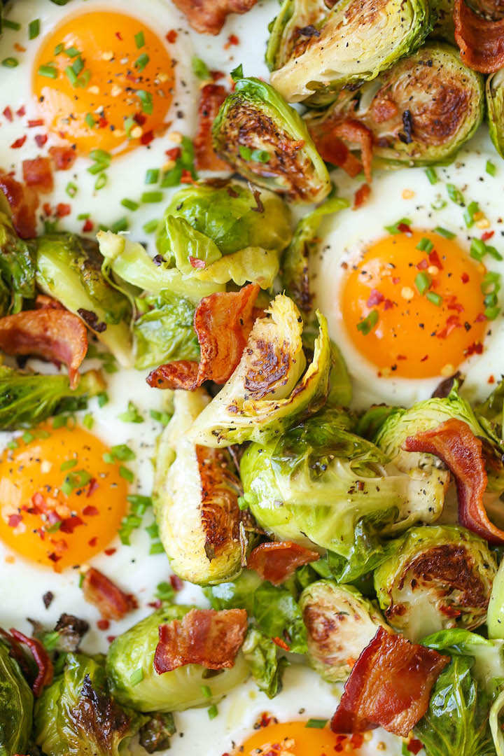 Brussels Sprouts, Eggs and Bacon