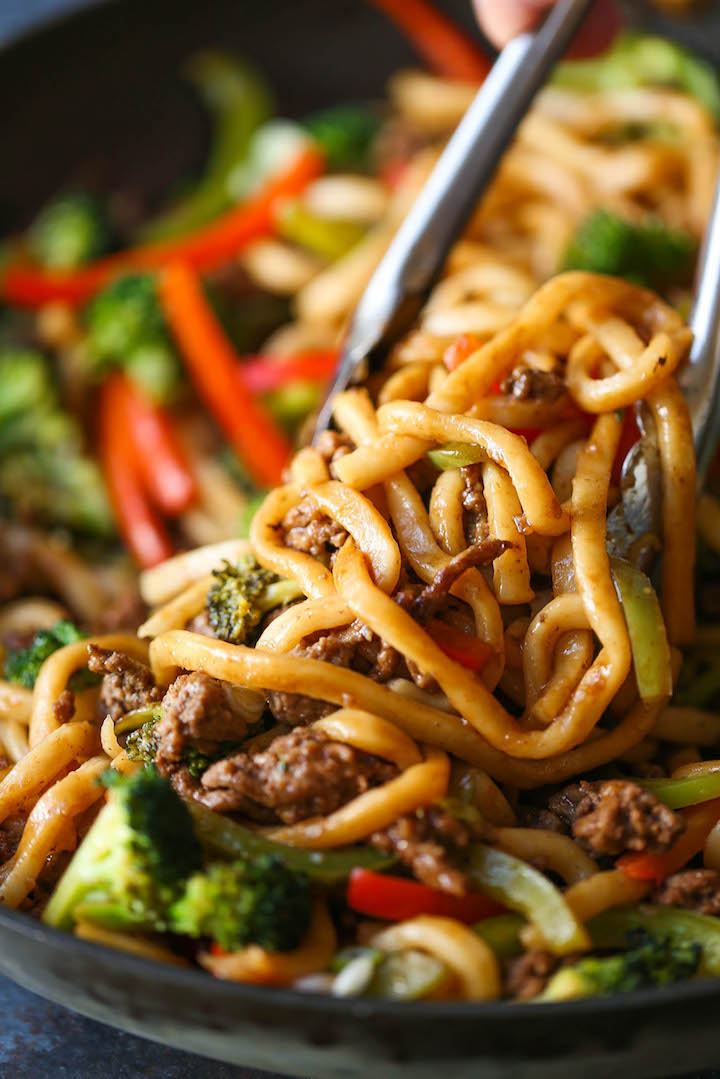Ground Beef Noodle Stir Fry Damn Delicious