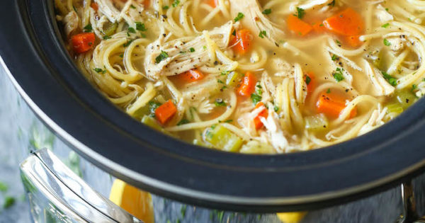 Slow Cooker Chicken Noodle Soup - Damn