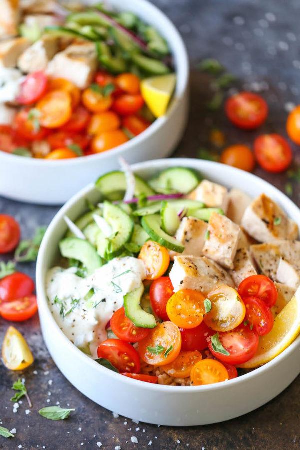 Greek Chicken Meal Prep Bowls Damn Delicious