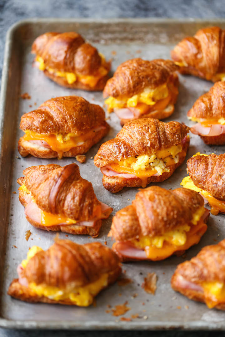 Freezer Croissant Breakfast Sandwiches - Damn Delicious