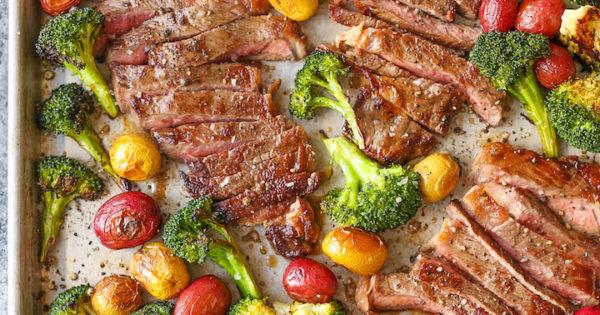 Sheet Pan Steak and Veggies - Damn Delicious