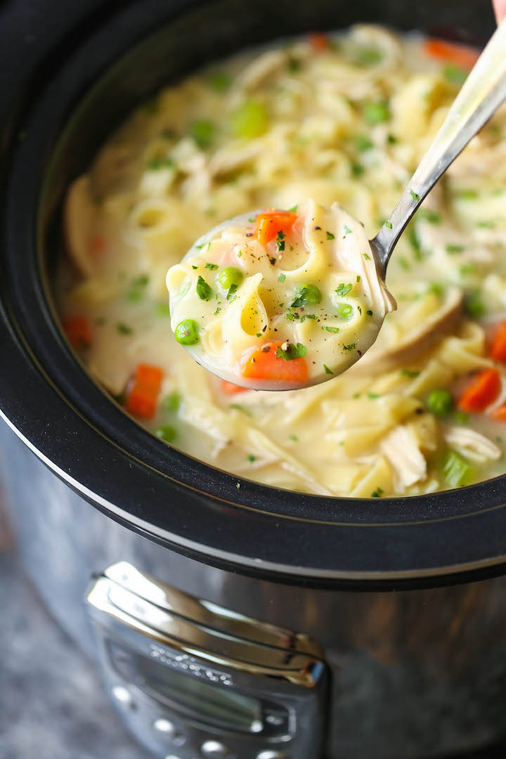 Slow cooker creamy chicken noodle soup damn delicious forumfinder Image collections