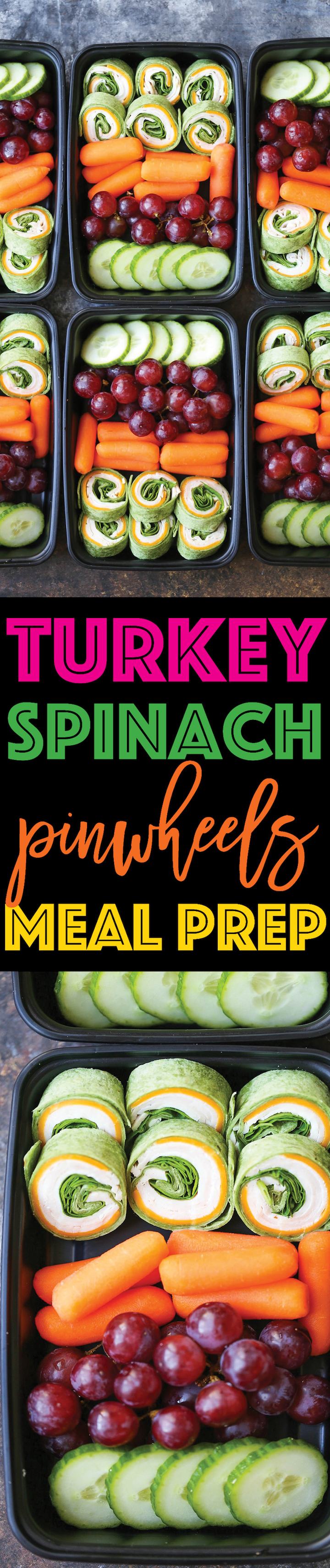 Turkey Spinach Pinwheels Meal Prep -Prep your lunches for the week with these turkey spinach and cheese pinwheels! No more overpriced snacks and lunches!!!