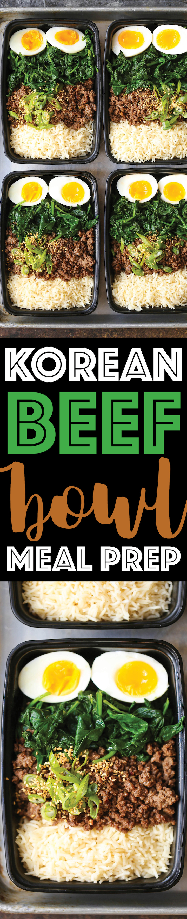 Korean Beef Bowl Meal Prep - Tastes like Korean BBQ in meal prep form and you can have it ALL WEEK LONG! Simply prep for the week and you'll be set. EASY!