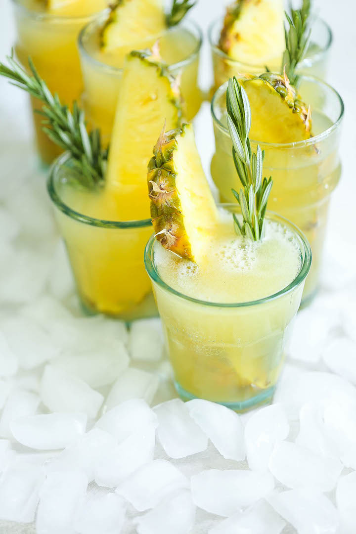 Картинка шампанское с ананасом