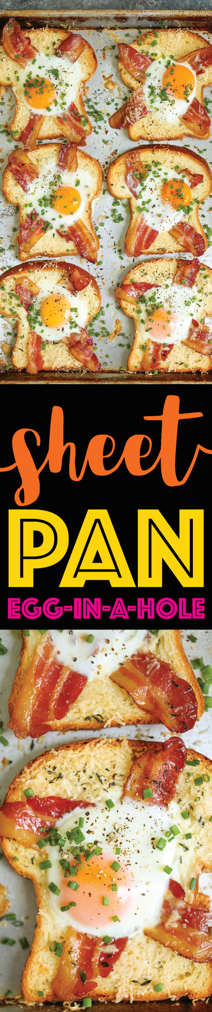 Sheet Pan Egg-in-a-Hole - A quick classic that comes together right on a sheet pan!!! Less mess, less fuss and just way easier than the stovetop version!