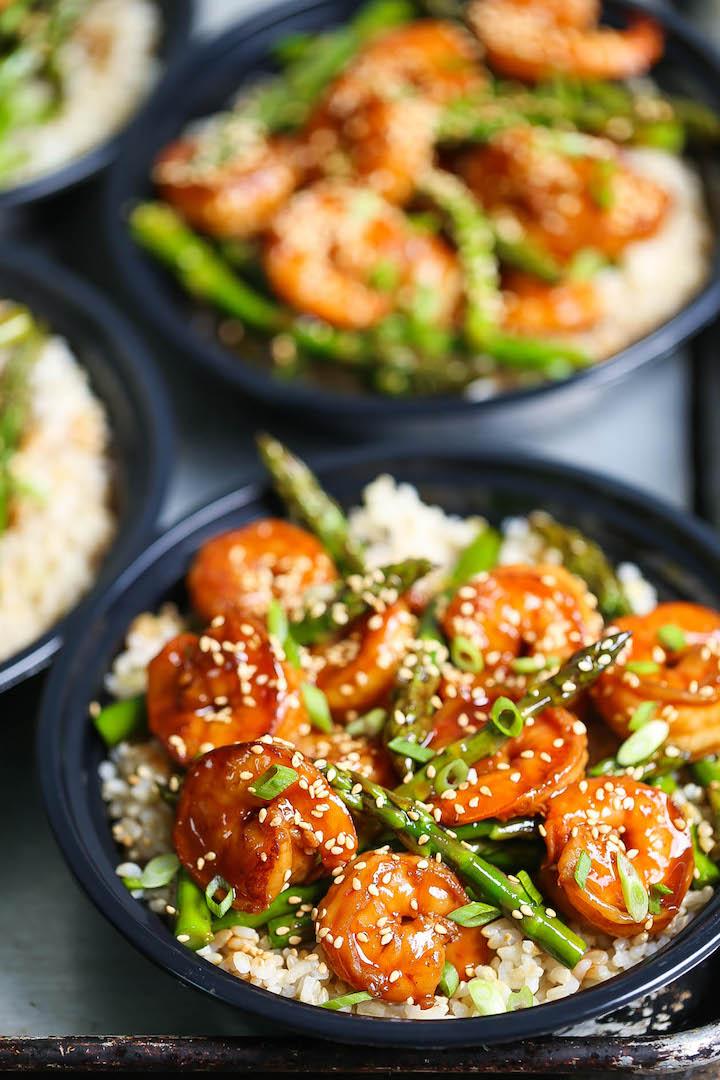 Shrimp And Asparagus Stir Fry Meal Prep Damn Delicious