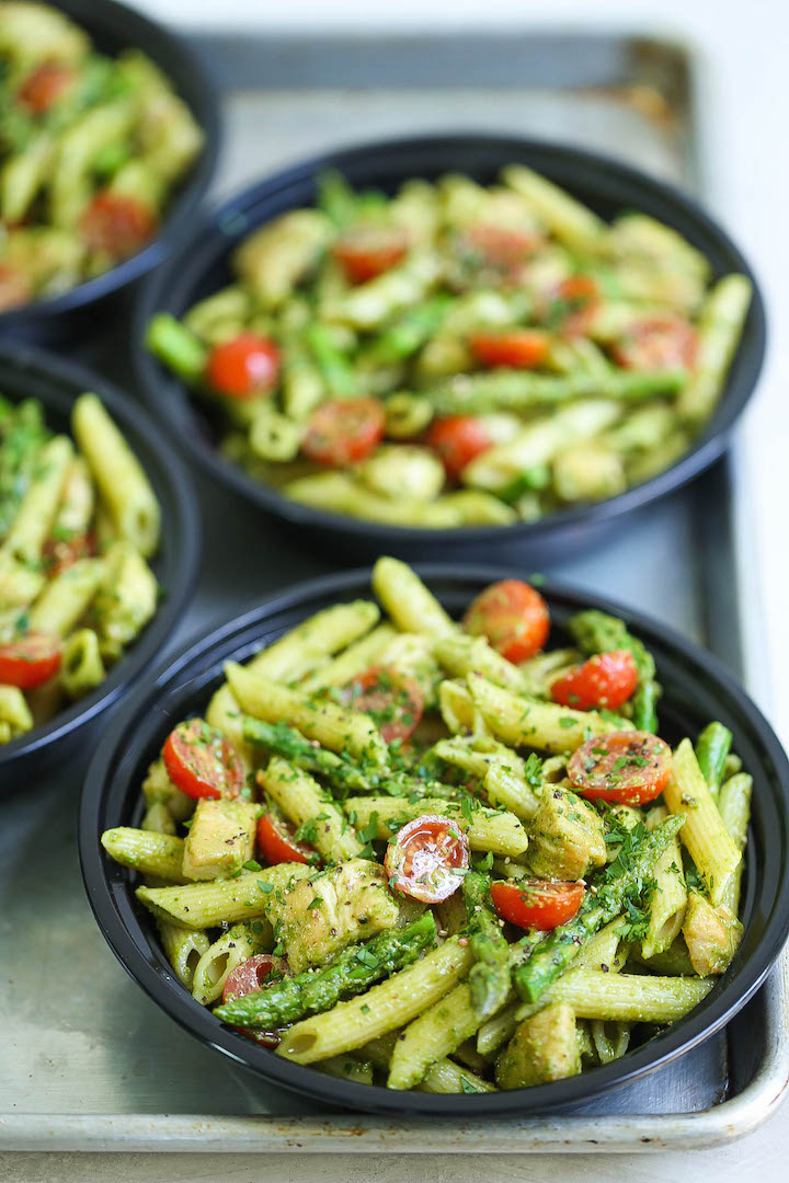 Chicken Pesto Pasta Meal Prep