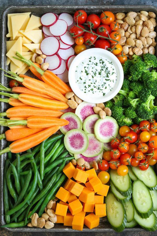 Vegetable Platter with Greek Yogurt Ranch