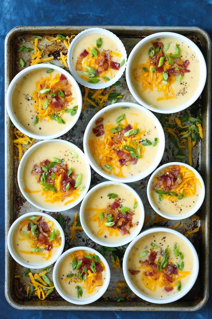 Slow Cooker Loaded Potato Soup Damn Delicious