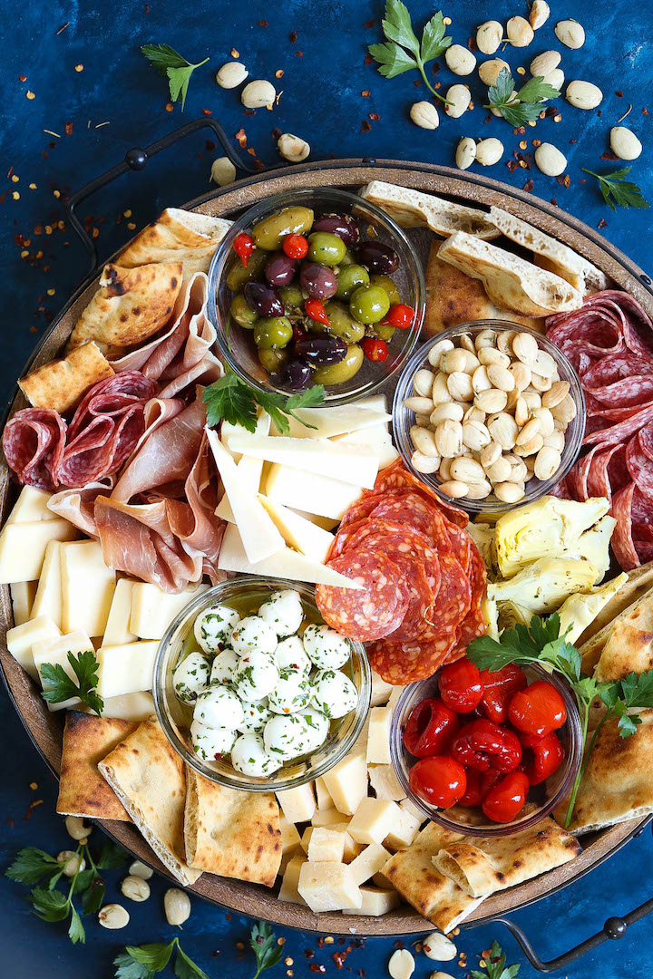 Antipasto Appetizer Cheese Board Damn Delicious