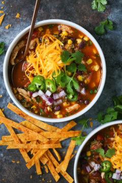 Chicken and Quinoa Tortilla Soup