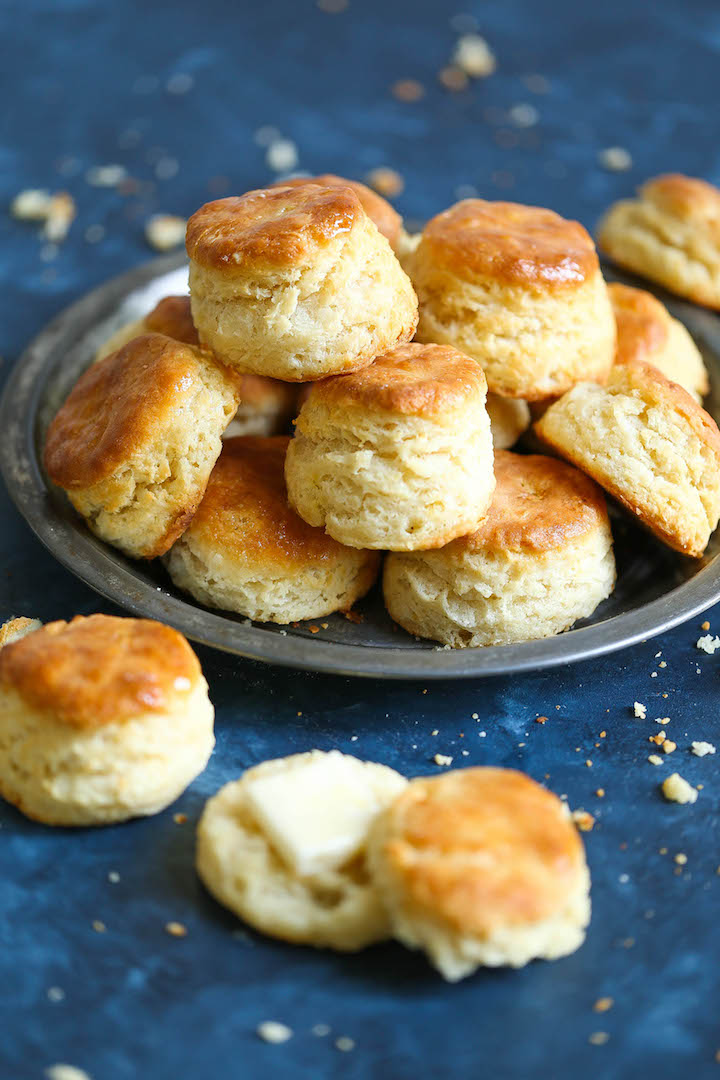 Flaky Mile High Biscuits - Is there anything better than warm, hot-out-of-the-oven, mile high, flaky biscuits that just melts in your mouth? No, right? Because these are truly the best biscuits you will ever make right at home!