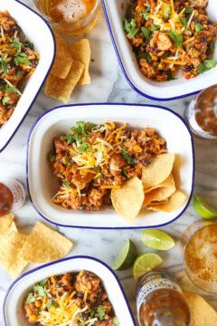 Instant Pot Chicken Burrito Bowls