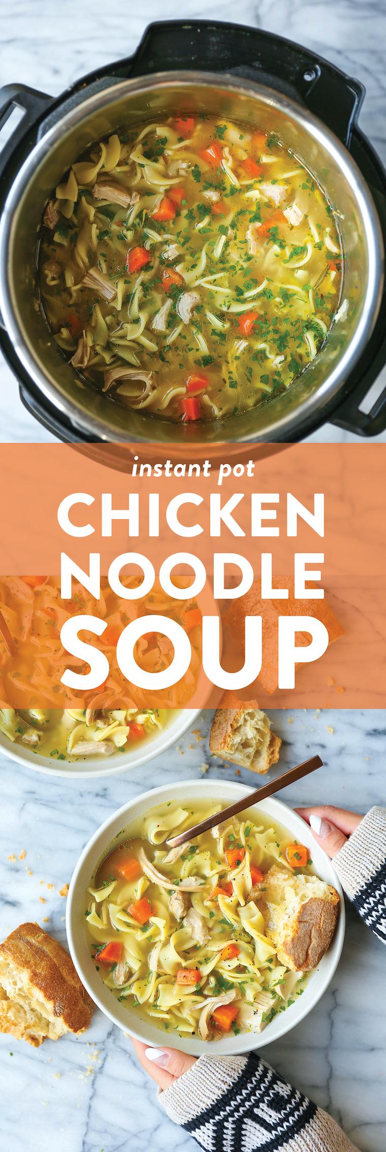 The Instant Pot Chicken Noodle Soup
