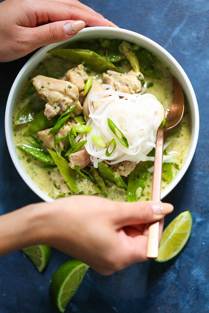 Thai Green Curry Chicken Soup