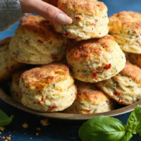 Sun Dried Tomato Parmesan Biscuits