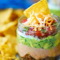5-Layer Mason Jar Taco Dip