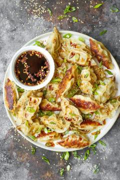 Garlic Ginger Chicken Potstickers
