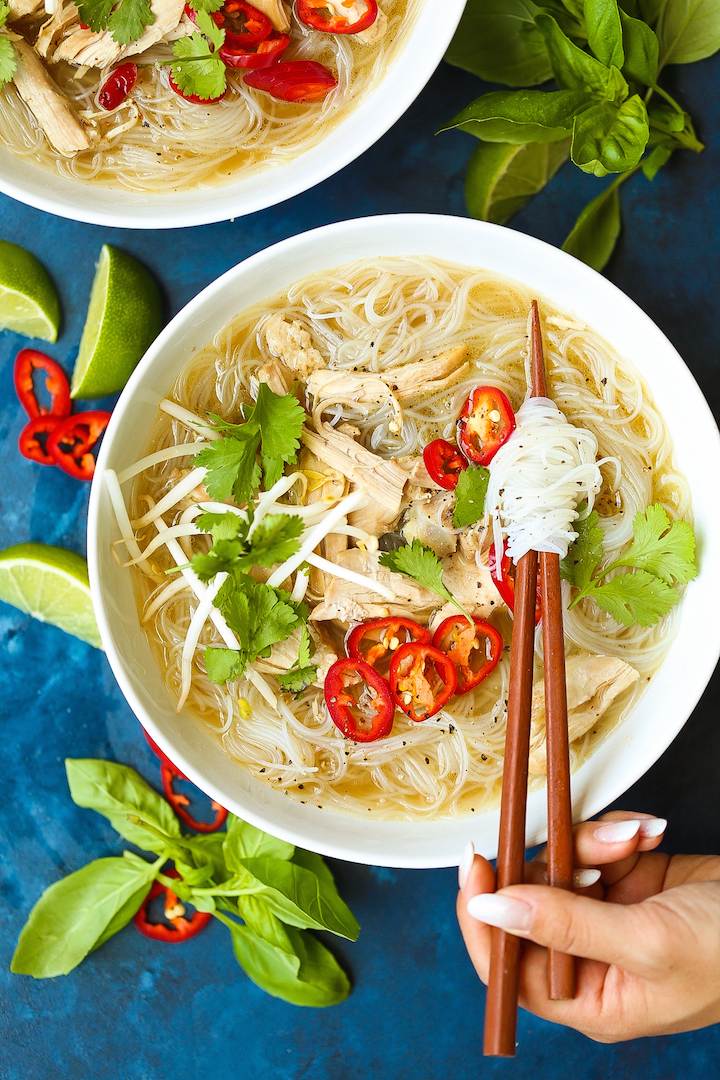 Instant Pot Pho - How to quickly (and easily!) make restaurant-quality pho right at home in the pressure cooker in less than 1 hour! The broth comes out perfectly - so flavorful and comforting. You can't beat that!