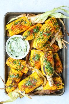 Summer Roasted Garlic Butter Corn
