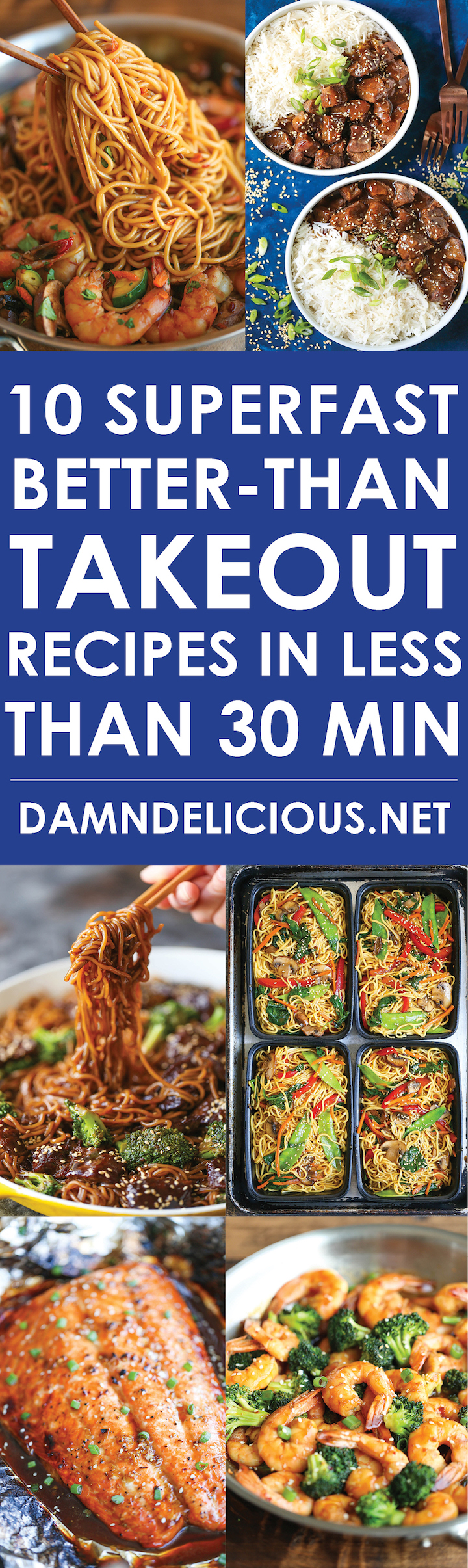 10 Superfast Better-Than Takeout Recipes in Less than 30 Minutes - Skip the takeout, delivery, and drive-thru! Nothing beats homemade when it's this quick!