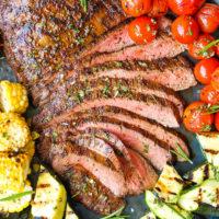 Grilled Flank Steak and Vegetables