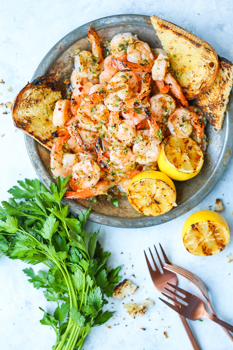 Grilled Garlic Butter Shrimp