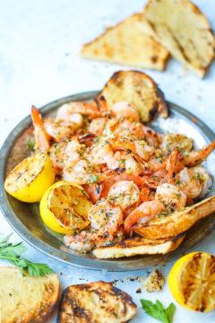 Grilled Garlic Butter Shrimp