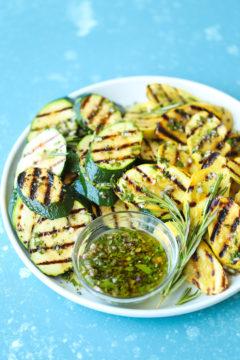Grilled Garlic Herb Zucchini